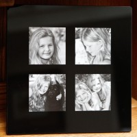 Black Onyx Glass Frame, 4 aperture