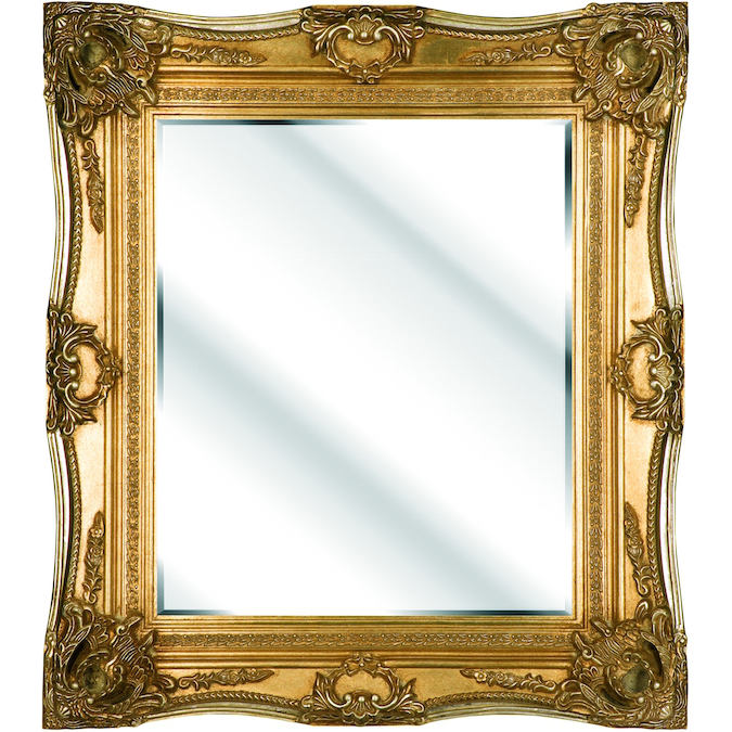 Traditional swept antique bevelled mirror dragon framing for Traditional mirror